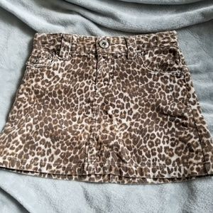 Leopard corduroy skirt from Children's Place